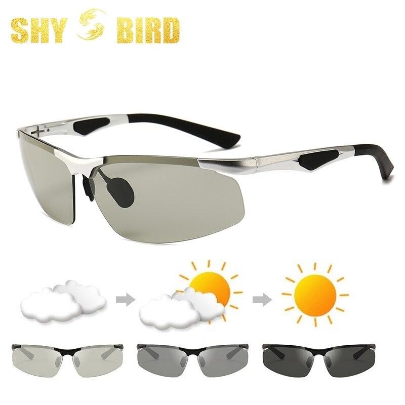 2019 алюминиевый сплав магния вождения фотохромные поляризованные солнцезащитные очки мужские солнцезащитные очки хамелеоны мужские очки