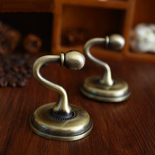 Vintage Inspired Wall Hooks Metal Bronze Decor / Cottage Chic Curtain French Country Hat Coat Hangers