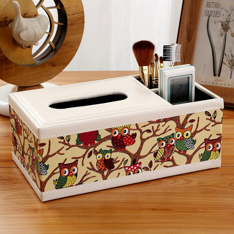 New Fashion Wooden Tissue Roll Paper Wooden Tissue Box Home Bathroom Car Tissue Box Container Vintage Style Storage Box-in Tissue Boxes from Home & Garden