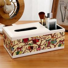 New Fashion Wooden Tissue Roll Paper Box Home Bathroom Car Container Vintage Style Storage