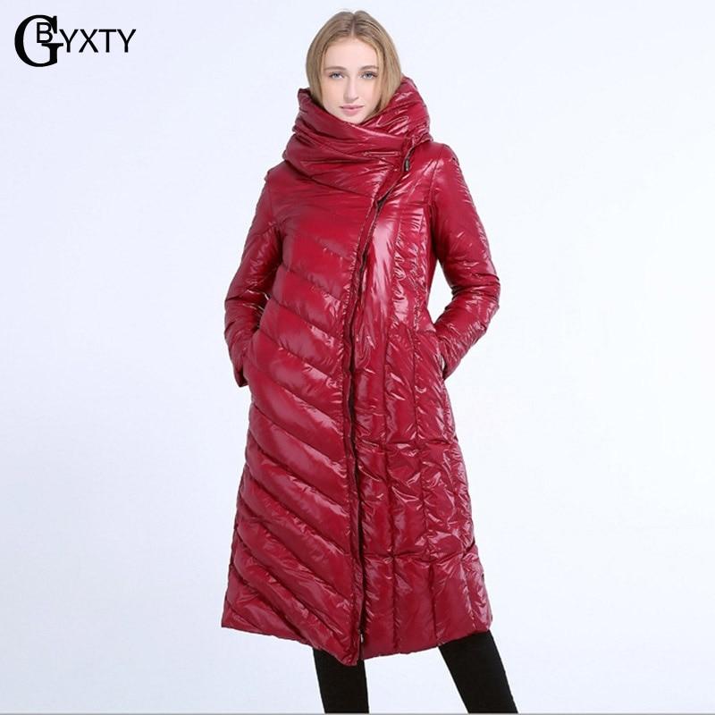 GBYXTY Plus Size 4XL   Down   Jacket Women 2018 Winter Thick Long Hood Duck   Down     Coats   Ladies Elegant Turtleneck   Down   Parka ZA1096