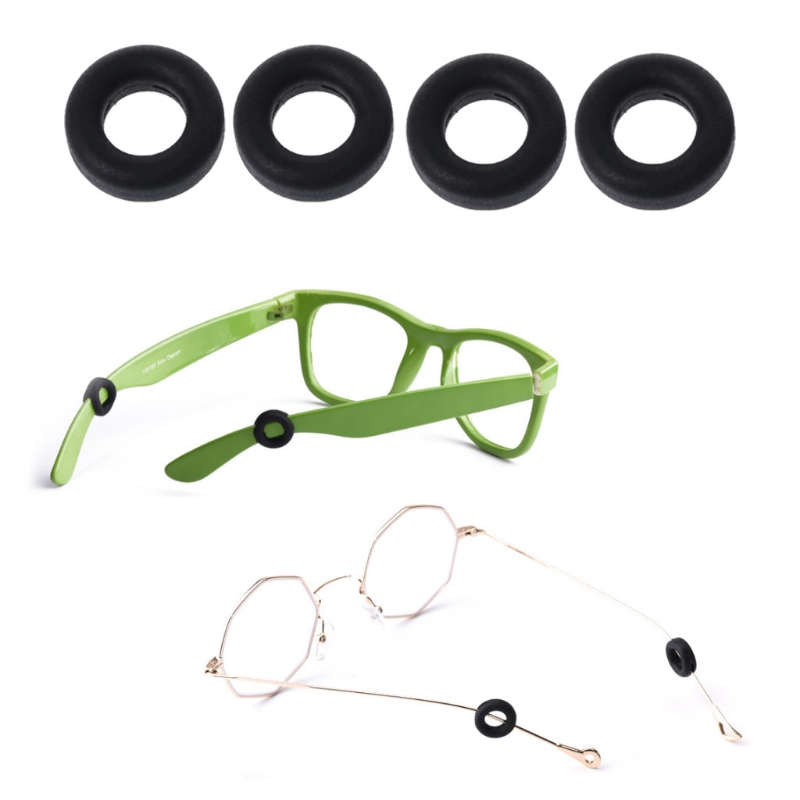 Очки уха крючки круглый Нескользящие силиконовые ручки спортивные очки храм советы