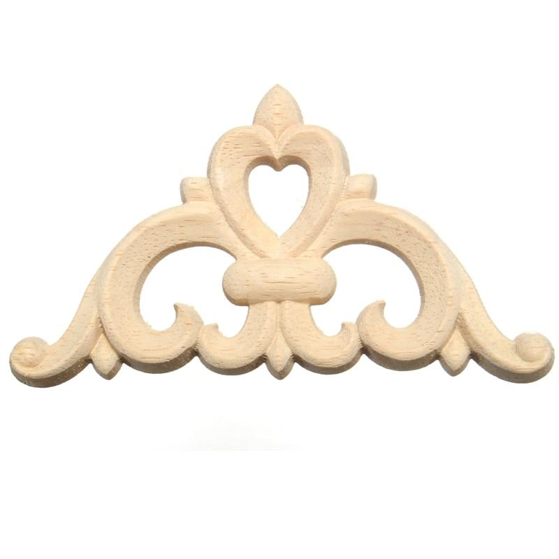 ᗕMejor promoción madera tallada esquina apliques calcomanía Marcos ...