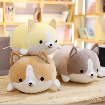 все цены на 60cm Lovely soft plush toy dog welsh corgi pembroke doll birthday gift sleeping pillow Stuffed animals