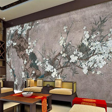 Custom 3d mural Chinese style painting mood living room TV background wall decoration painting wallpaper mural photo wallpaper wallpaper 3d southeast asian style wooden boat 3d wallpaper mural balcony living room decoration background