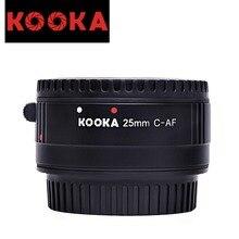 KOOKA KK-C25P Plastic Extension Tube with Auto Focus TTL Exposure for Canon EF DSLR Cameras (25mm)