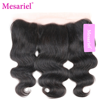 Mesariel Remy Hair 13×4 Lace Frontal Free Shipping Natural Color 100% Human Hair Peruvain Body Wave Closure