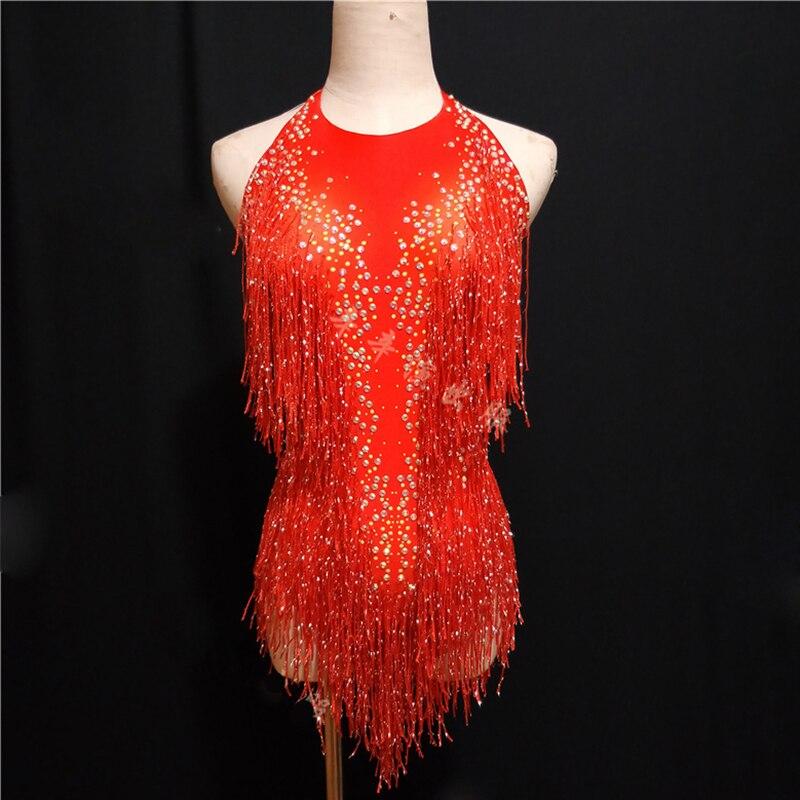Sparkly Strass Oro Nappa Tuta Femminile Cantante DJ Sexy Olografica Body Jazz Beyonce Costume Cristalli Vestito DL1012