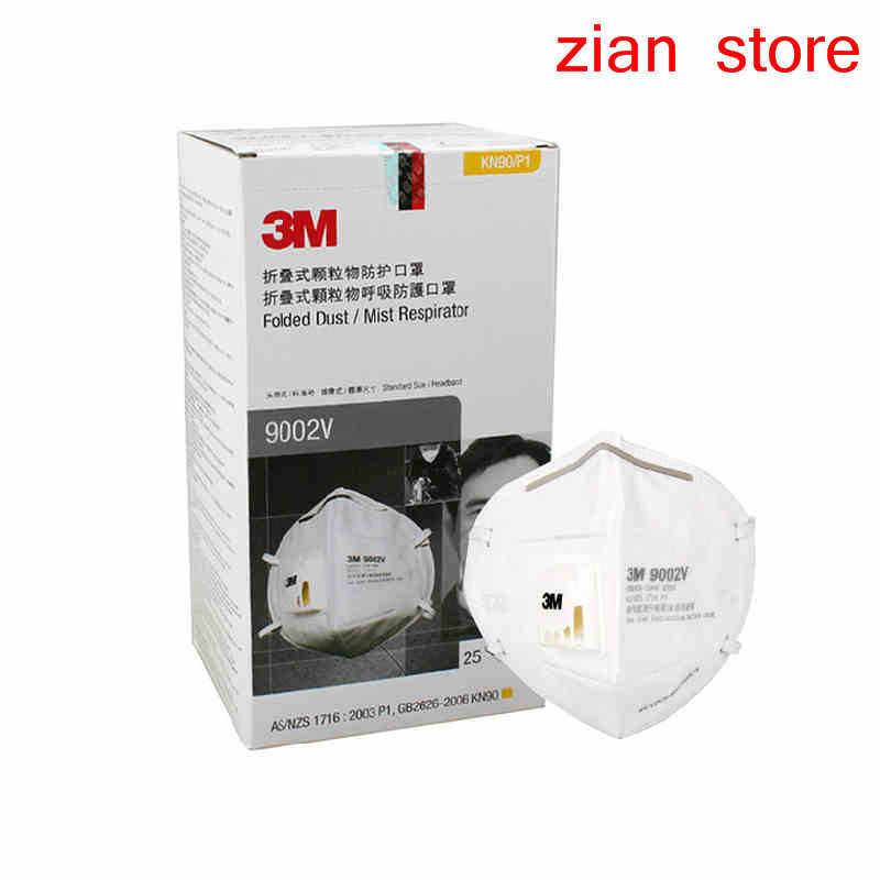 3M 9002 в респираторный 25 шт pm2.5 дышащий Прохладный поток безопасности дыхательный