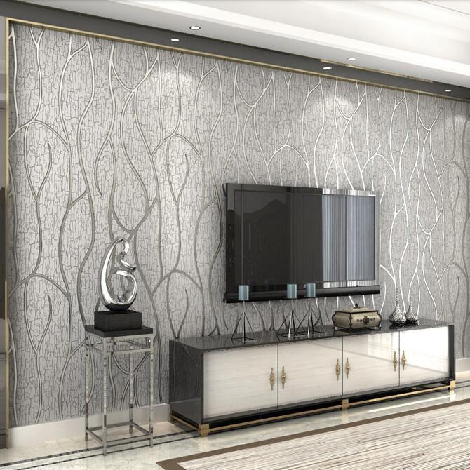 US $48.89 17% OFF|Neue 3D moderne luxus gestreiften hintergrund tapete 3D  relief beflockung wand papier rollen wohnzimmer schlafzimmer sofa TV wand  ...