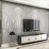 New 3D modern luxury striped background wallpaper 3D relief flocking wall paper roll Living room bedroom sofa TV wall wallpaper