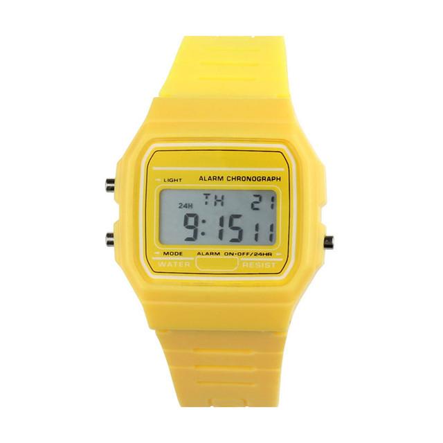 New Silicone Rubber Strap Boys Girls Watches Bright Color Retro Vintage Students