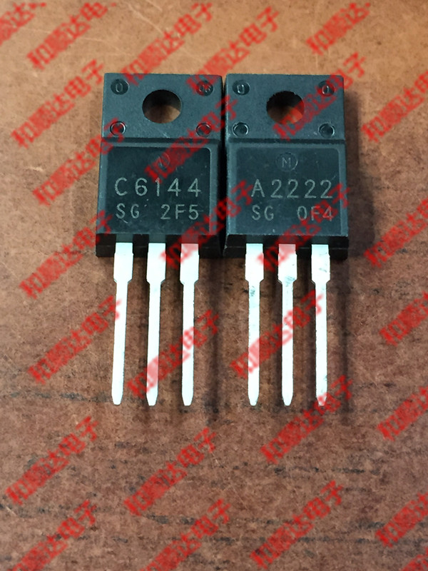 2pcs/lot 2SA2222 2SC6144 TO-220F 1pairs 1pcs A2222 + 1pcs C6144 TO-220 In Stock
