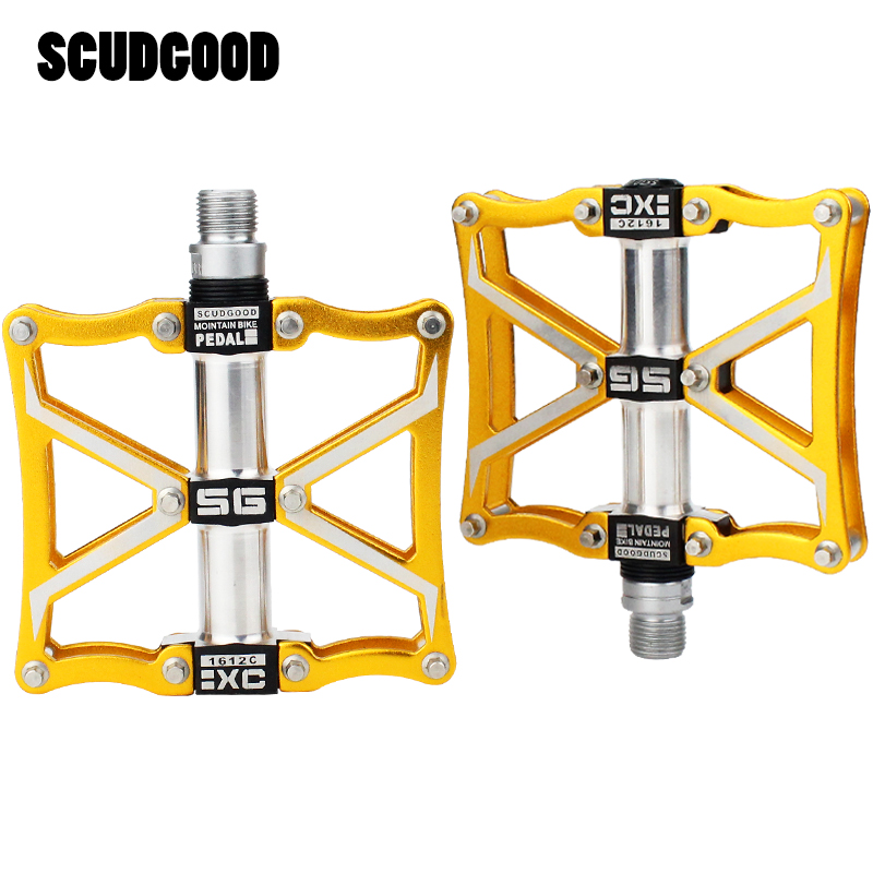 SMS Bicycle Pedals Super Wide Ultralight Road Bike Pedals Mountain Bike Pedals Aluminum Alloy Cycling Pedals