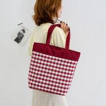 Сумки для женщин большие клетчатые холщовые сумки с принтом складная сумка, сумка, художественная простая сумка сумки с голограммой для женщин# g7