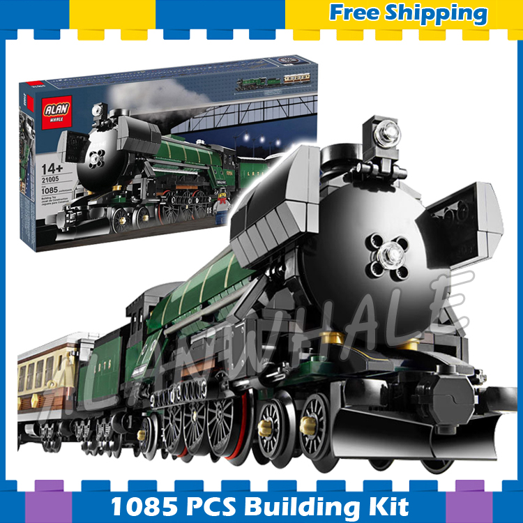 1085pcs Creator Trains Emerald Night Train Steam Locomotive 21005 Model Building Blocks  ...