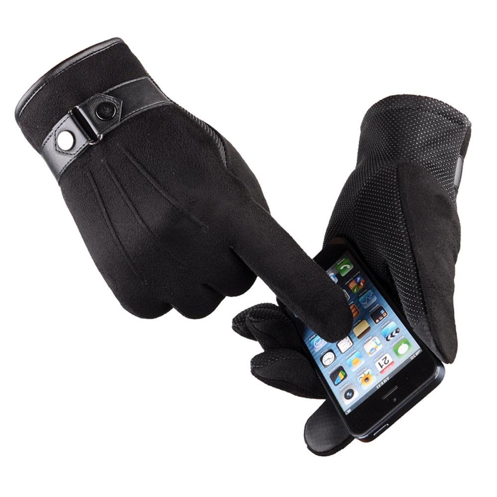 Winter Gloves Men Thicken Warm Cashmere Thermal Mittens gants homme Touching Screen Gloves Anti Slip Snowboard mittens men
