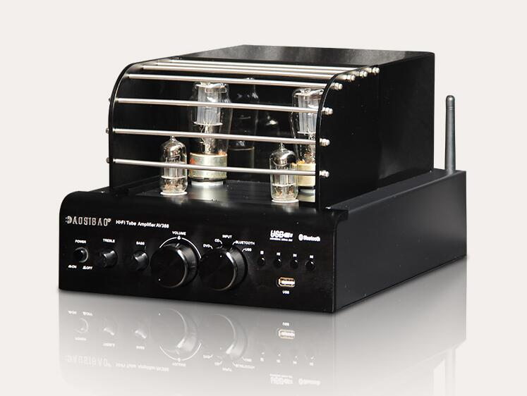 Finished 6N13P+6F1 Tube Amplifier Stereo Bluetooth Power Amp Lossless decoding hi fi 6f1 tube amplifier bluetooth 4 0 mini power amp u disk lossless decoding