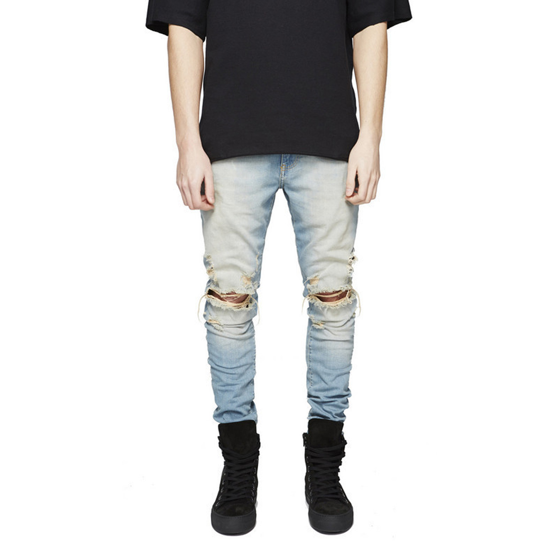 Black Blue Yellow Gray Ripped Men Jeans Trousers Hollow Out Slim Kpop Pants 2017 Fashion Brand Denim Overalls Mens Jeans Homme цена
