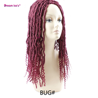 Synthetic Faux locs crochet braiding hair extensions ombre freetress braids hair for Afro women dream ice's