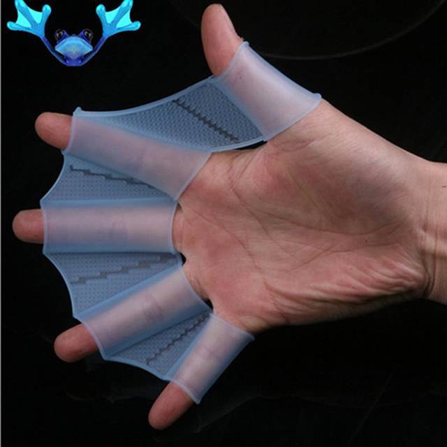 1pcs Unisex Frog Type Silicone Girdles Swimming Hand Fins Flippers Palm Finger Webbed Gloves Paddle Water Sports S/M/L 4