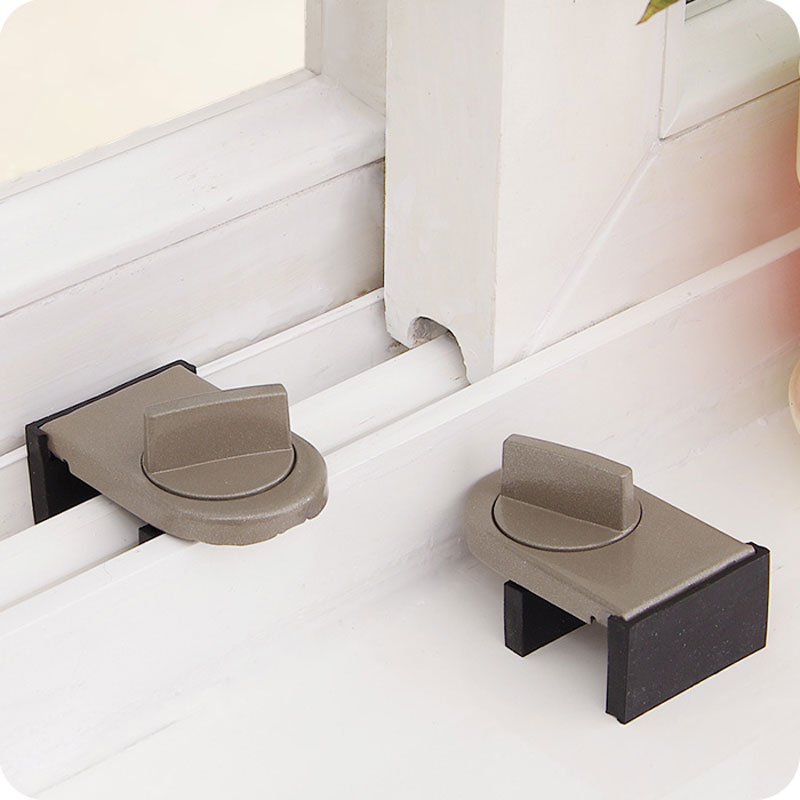 Vanzlife Locks On Windows Adjustable Security Door Latch Mobile Window Insurance Lock Anti-theft Protection Lock Window Stoppers