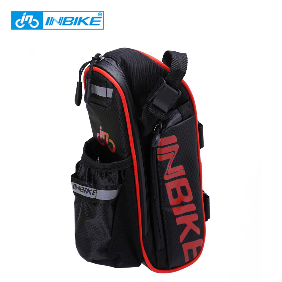 INBIKE Waterproof Bicycle Bag Cycling Bag MTB Road Bike Saddle Bag Tail Rear Seat Repair Tool Kit Storage With Water Bottle Hold