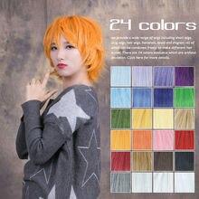 Cosplay Pelucas cortas Caliente 24 Colores 35 cm combado convertido en forma de pelo de Todos Los Santos Del Juego Anime Japonés general realizar pelo 1-16 #