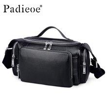 Padieoe 2017 Men's Genuine Leather Travel Bags Luxury Durable Man Travel Bags Cowhide Leather Male Shoulder Weekend Bag Luggage