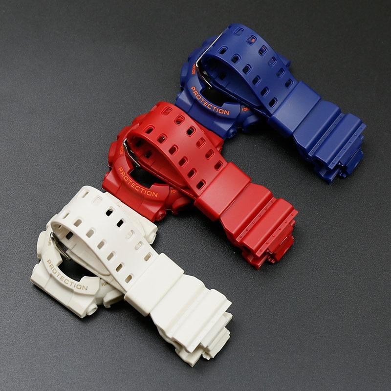 Resin strap for Casio G-SHOCKGA-110 GA-100 GD-100 GA-120 GD-120 GD-110 watch with accessoriesResin strap for Casio G-SHOCKGA-110 GA-100 GD-100 GA-120 GD-120 GD-110 watch with accessories