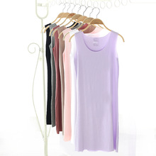 New! Hot sell 2019 Summer sexy seamless vest skirt Cool women sleeveless V neck skirts  fashion elastic summer D338