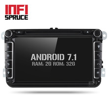 Android 7.1 Car DVD for VW Volkswagen SKODA GOLF 5 Golf 6 POLO PASSAT B7 T5 CC JETTA TIGUAN car gps stereo navigation player(China)