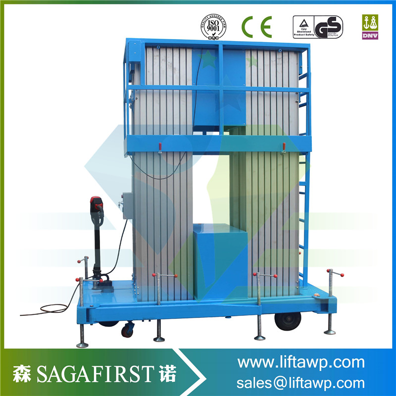 6-16m Aerial Work Platform With Blue And Red Color