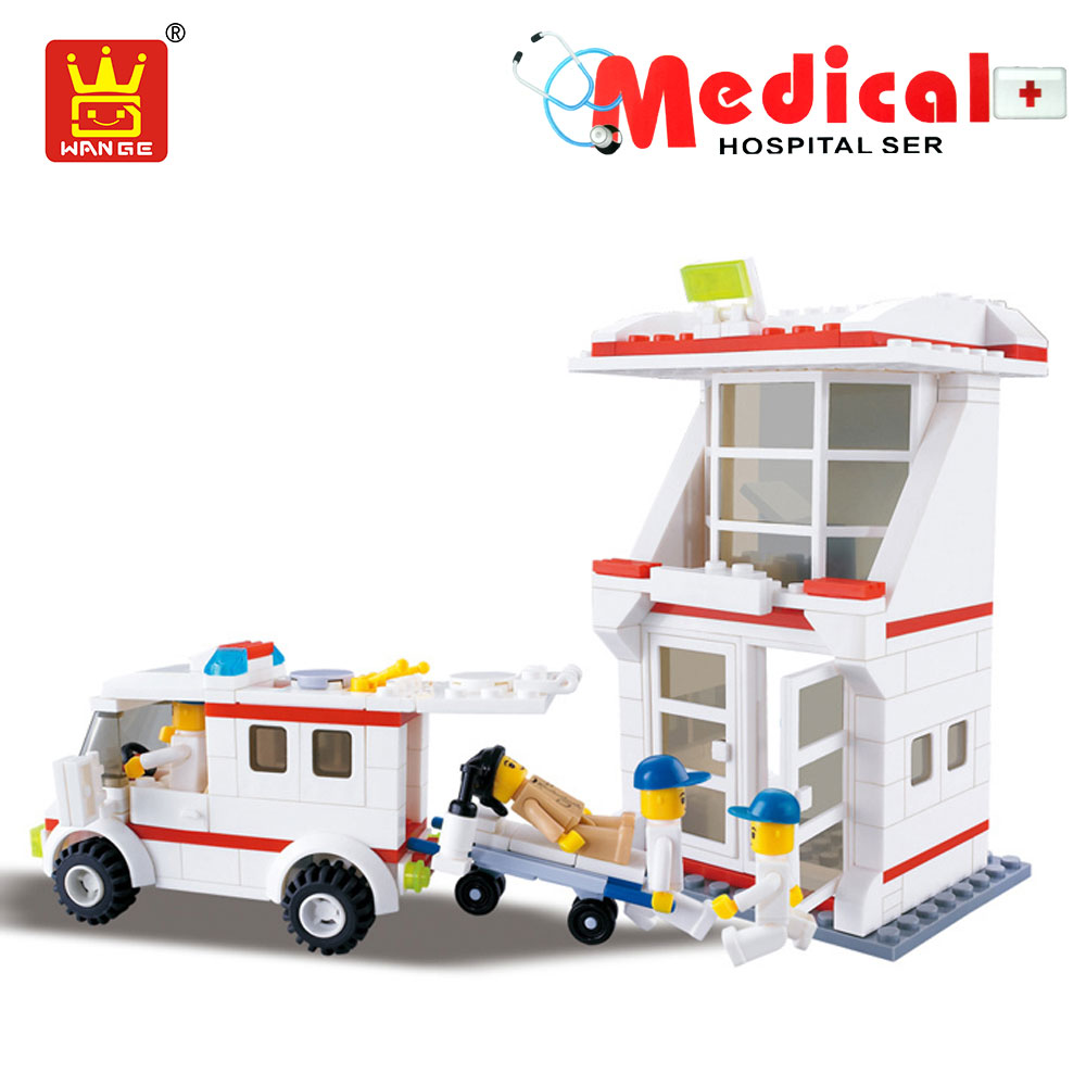 WANGE Bricks Hospital Blocks Building Blocks Compatible Creator Doctor Plastic Assembly Toys for Children Gift Educational Kids 2016 kids diy toys plastic building blocks toys bricks set electronic construction toys brithday gift for children 4 models in 1