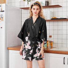 Летнее женское мини-кимоно, халат, женское банное платье из вискозы, ночная рубашка юката, ночная рубашка, пижамы, модный пеньюар, Mujer, размер m-xxl