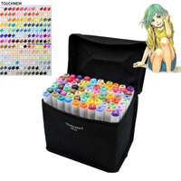 TOUCHNEW Markery 30 60 80 168 Colors Artist Dual Headed Marker Set Manga Design School Drawing