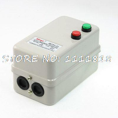 Pudh Button Control 3Pole 1NO Motor Magnetic Starter 380V Coil 4KW 6.8-11A 12v 4kw new starter motor for ford f e series tg228000 8420
