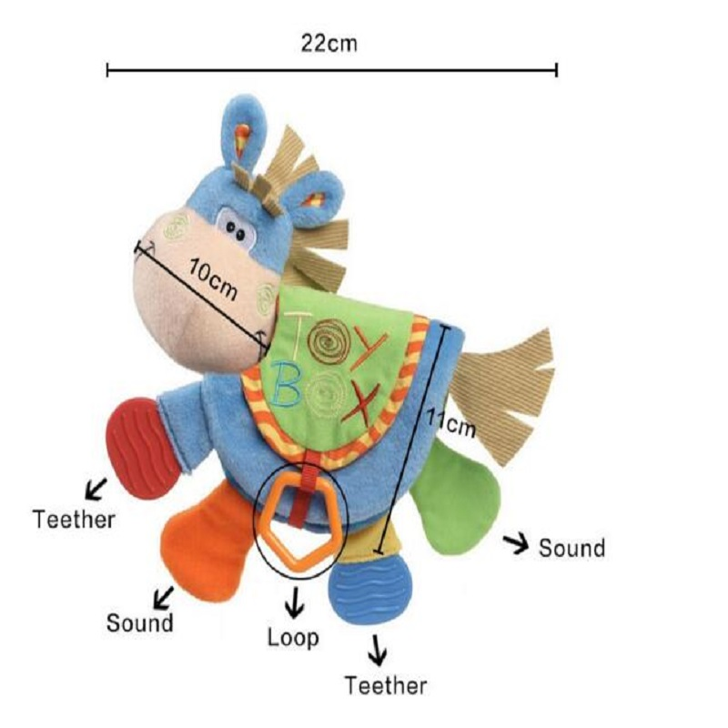 Animal Cloth Book 아기 완구 0-12 개월 활동 도서 개발 - 유아 및 유아용 장난감 - 사진 2