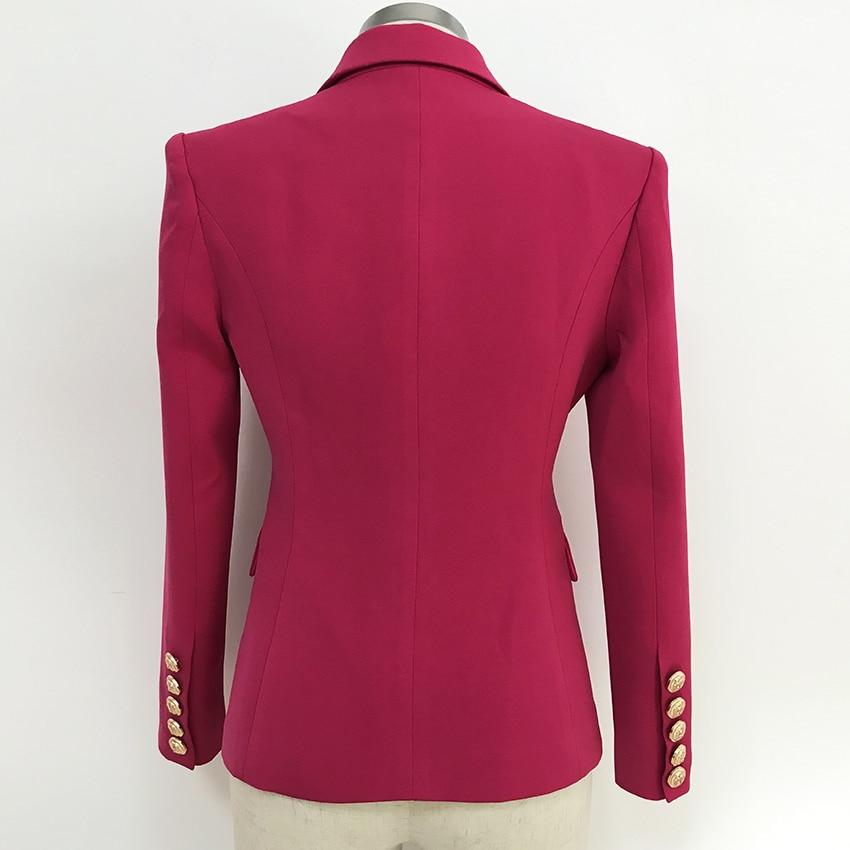 Kadın Giyim'ten Blazerler'de YÜKSEK KALITE Yeni 2019 Tasarımcı Blazer kadın Tek Düğmeleri Renk Blok Zinciri Süslenmiş Blazer Ceket'da  Grup 3