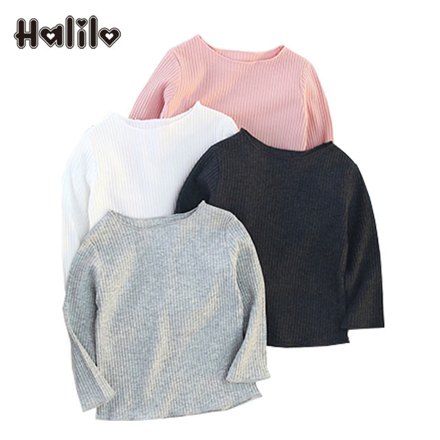 Halilo Baby Girl Tops 2018 Long Sleeve Spring Autumn Infant Shirt Boy Clothes T 1st Birthday Kids Tshirts
