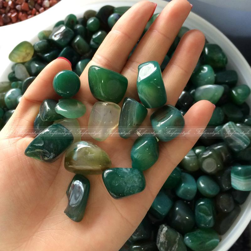 100g Natural green Gravel Agate Quartz Crystal Stone Rock Specimen Chip Healing natural stones and minerals