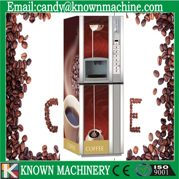 Bill acceptor automatic coffee vending machine hot drink dispenser machine free shipping commerical use 3 in 1 automatic coffee vending machine hot drink dispenser machine