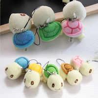 4 cm Kleine Spielzeug Schildkröte Plüsch Stofftier Puppe String Spielzeug Schlüssel Kette Puppe Gefüllte Hochzeit Bouquet Puppe Spielzeug I0104