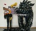18 m ORIGINAL de dança tamanho 3 corpo preto chinês dragão dragão chinês Folk Festival celebração Costume