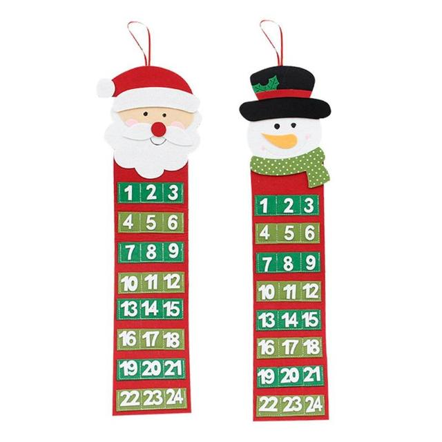 christmas countdown calendar home party shop decoration wall hanging velvet santa claus calender best gift drop