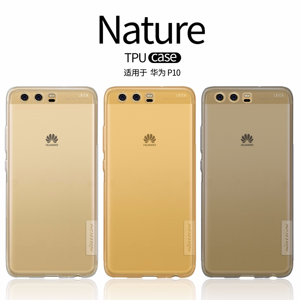 Huawei P10 Case Huawei P10 Plus Cover TPU Transparent Soft Case Cover NILLKIN Nature Luxury Back Cover With Retailed Package