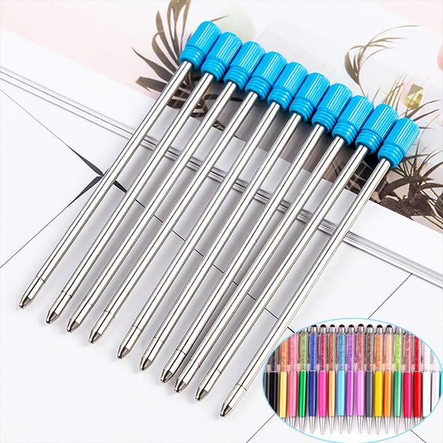 30pcs/lot Diamond Crystal Metal Refills 0.7mm Special Refills for Roller Ball Pen Ballpoint Pen 7CM Length Office School Supply