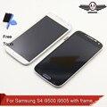 Display lcd para samsung s4 i9500 i9505 display lcd touch screen digitador com moldura de montagem completa