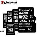 Оригинальный Kingston Class10 8 ГБ 16 ГБ 32 ГБ 64 ГБ Карта Micro Sd 64 ГБ 32 GB 16 ГБ 8 ГБ TF Флэш-Карты Памяти Microsd с Адаптером Карты