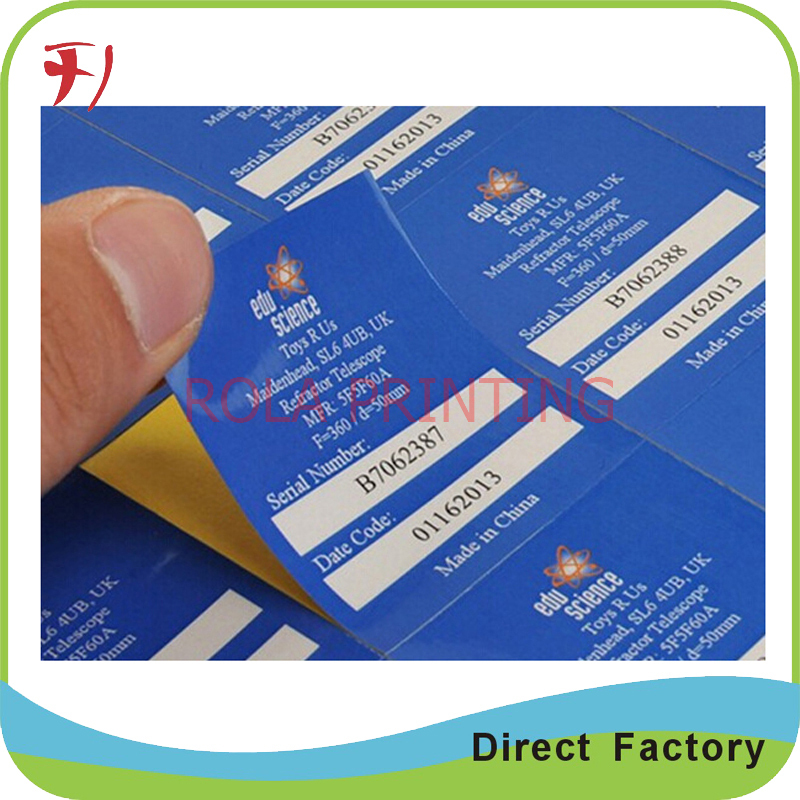 Customized High Quality Self Adhesive Paper Logo Sticker Custom Product Label In Roll Stationery From Office School Supplies On